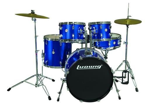 Ludwig Accent Fusion Drum Set with Hardware & Cymbals by