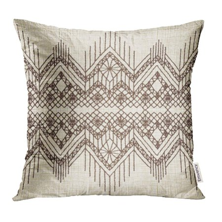 Lace Fringe Pillow (YWOTA Beige Lace Floral with Fringe Border Knitted Woven Macrame in Boho Style American Pillow Cases Cushion Cover 18x18 inch)