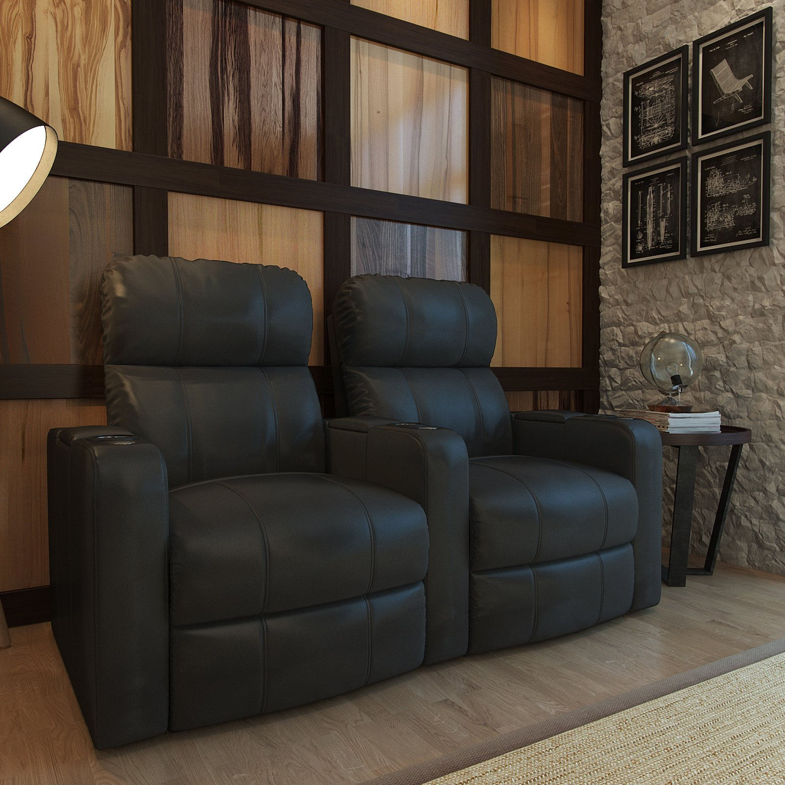 Octane Turbo XL700 2 Seater Bonded Leather Home Theater Seating