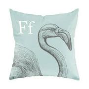 Checkerboard, Ltd Flamingo Throw Pillow