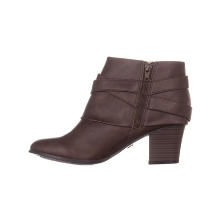 TS35 Tully Zip Up Block Heel Ankle Boots, Brown - image 3 de 6