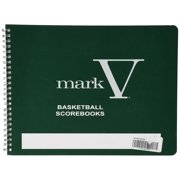 Mark V Basketball Scorebook, Whistle instructions MLB Scorebook Keep Bound Male rear view Lanyard Book Coaches games Licensed season Scorebooks from Pack.., By Sport Supply Group