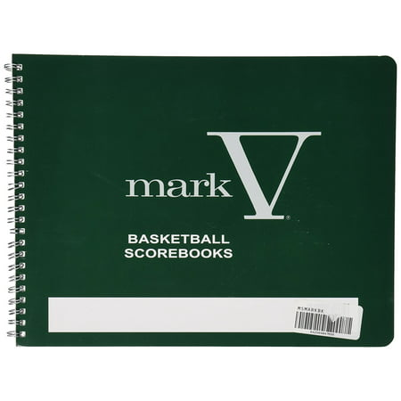 Mark V Basketball Scorebook  Whistle Instructions Mlb Scorebook Keep Bound Male Rear View Lanyard Book Coaches Games Licensed Season Scorebooks From Pack    By Sport Supply Group