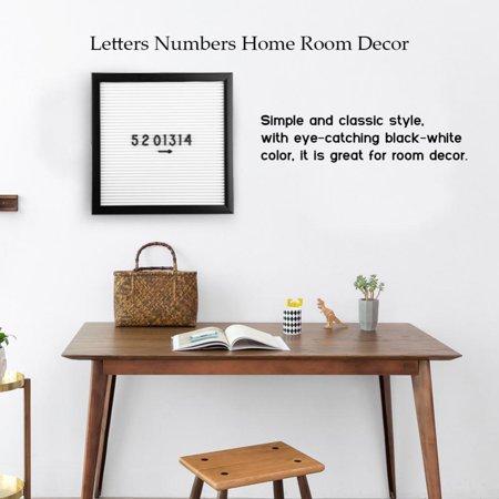 Felt Number - Fosa 25cm*25cm Message Felt Letter Board Sign Changeable Letters Numbers Home Room Decor,Letter Board, Message Letter Board