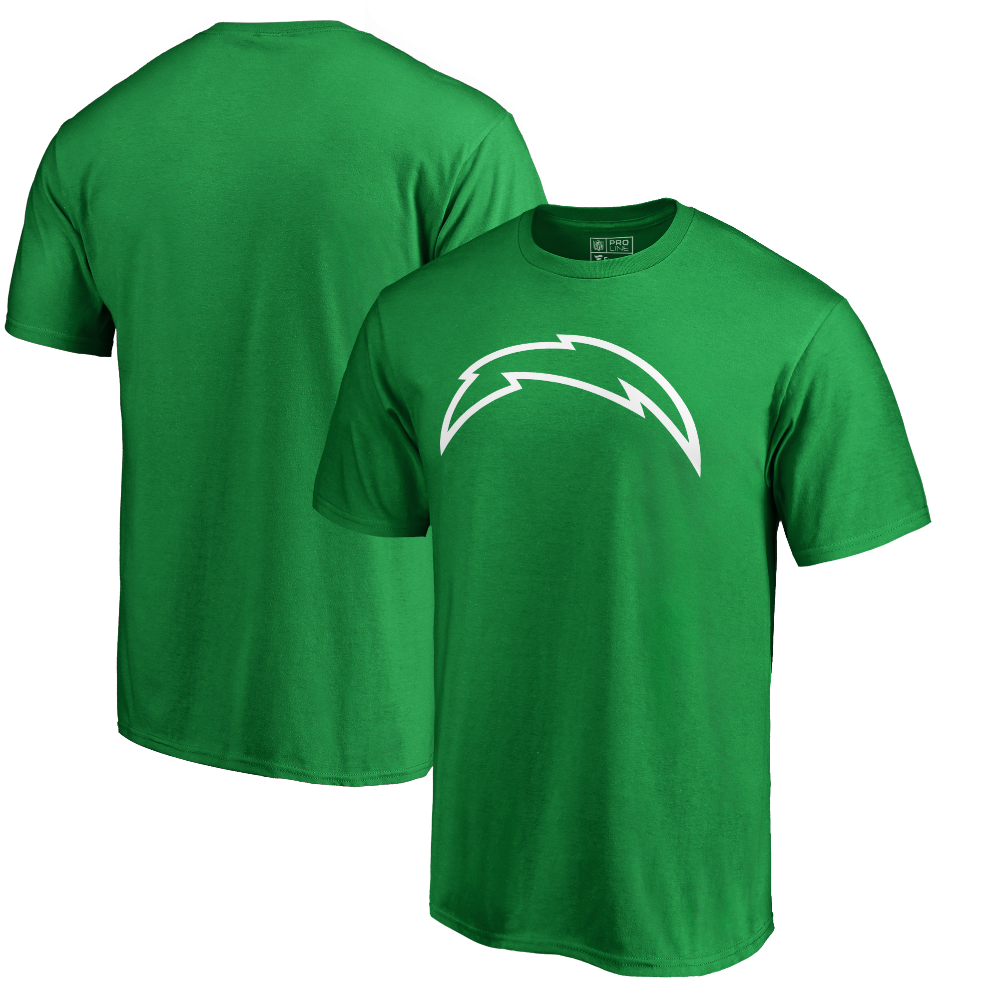 Los Angeles Chargers Fanatics Branded St. Patrick's Day White Logo T-Shirt - Green