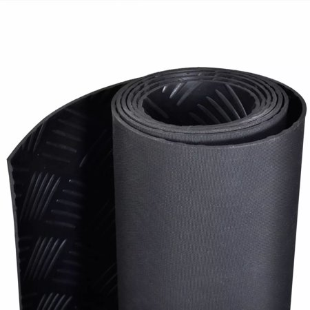 Rubber Floor Mat Anti-Slip 16' x 3' Checker Plate (R50 Floor)