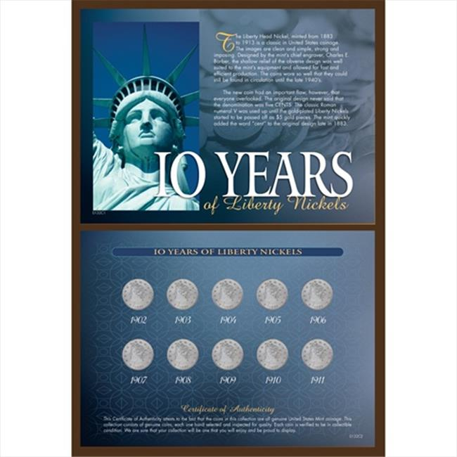 American Coin Treasures 132 10 Years of Liberty Nickels - image 1 of 1