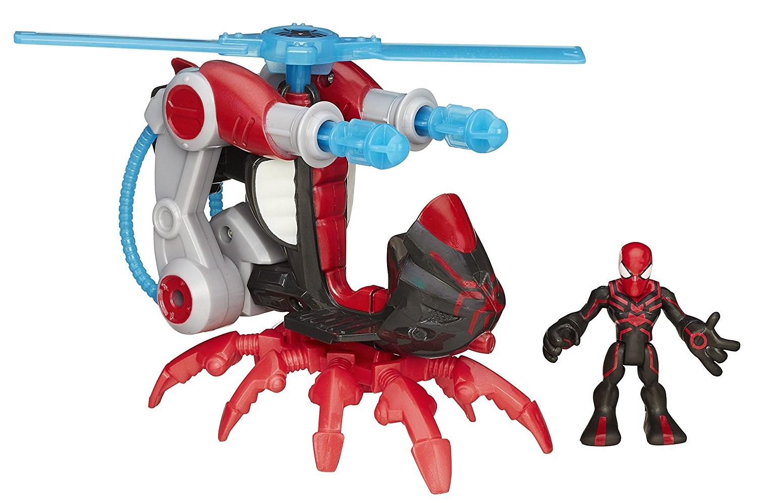 Heroes Marvel Super Hero Adventures Arachno-Blade Copter Vehicle with Big Time Spider-Man... by