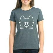 Womens Hipster Cat T-Shirt