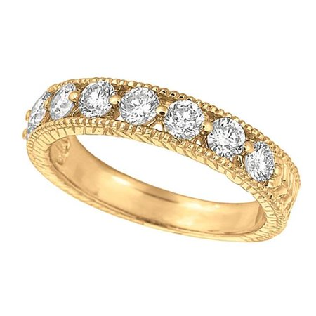 Harry Chad Enterprises HC12168 1.06 CT Diamonds Stack Wedding Eternity Band Ring - 14K Yellow Gold - image 1 of 1