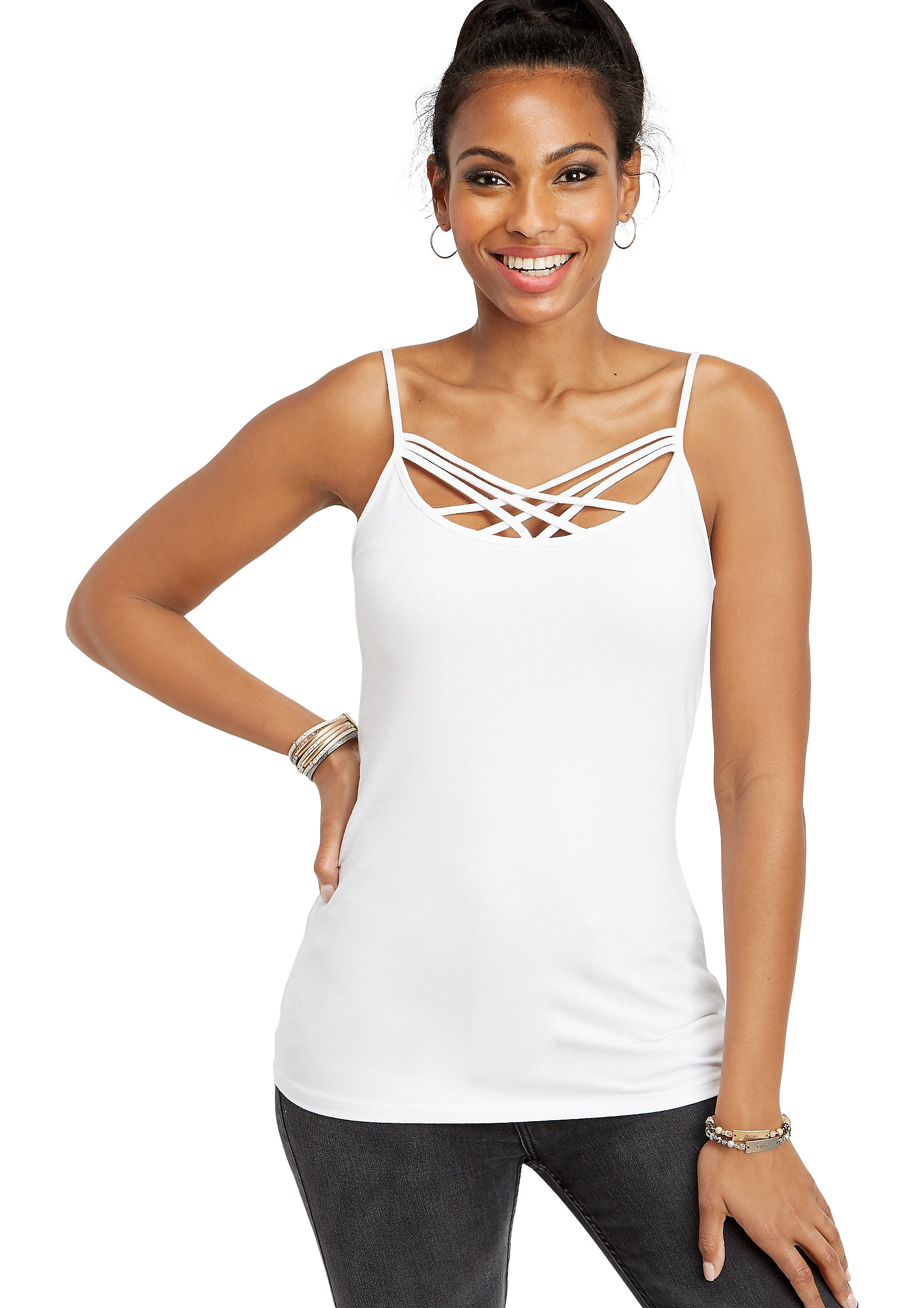 Maurices Strappy Neck Layering Tank - Women's Spaghetti Strap
