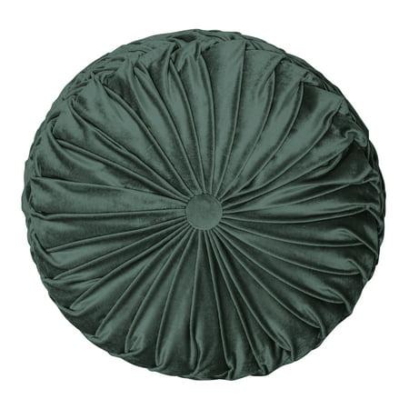 Better Homes & Gardens Velvet Round Decorative Throw Pillow, 15.5