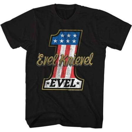 Evel Knievel Icons Evelone Adult Short Sleeve T - Evel Knievel Costumes
