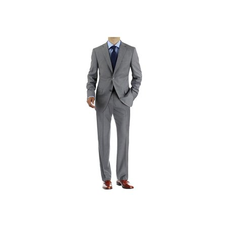 Lined Two Button Suit - Men's Two Button 2 Piece Avant Garde Modern Fit Suit
