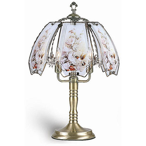 Collections Etc Lotus Flower Table Touch Lamp Walmartcom