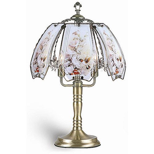 Ore international 23 5 hummingbirds touch lamp for Table decor international inc