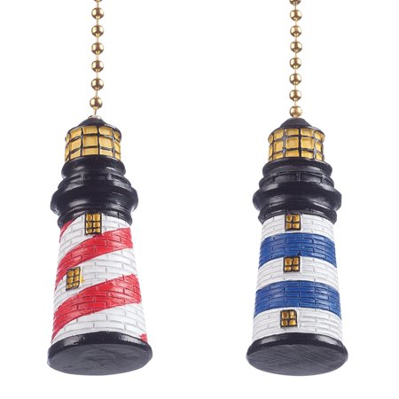 Lighthouse Fan & Light Pulls, Set of (Two Lights Lighthouse)