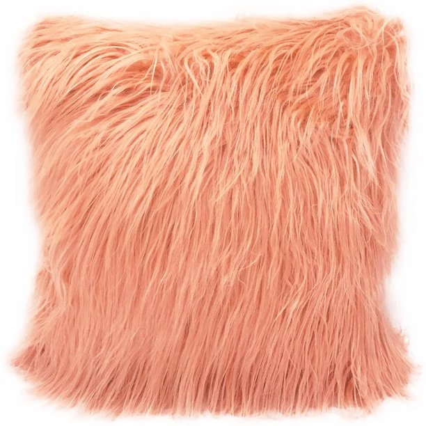 Fennco Styles City Scene Faux Fur Decorative Throw Pillow 7 Colors Peach Walmart Com Walmart Com
