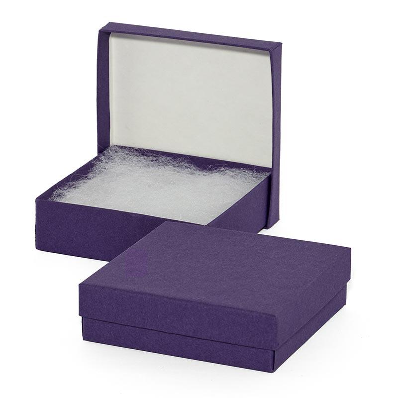 100ea - #53 5-1/4 X 3-3/4 X 7/8 Purple Matte Color Jwry Box by Paper Mart