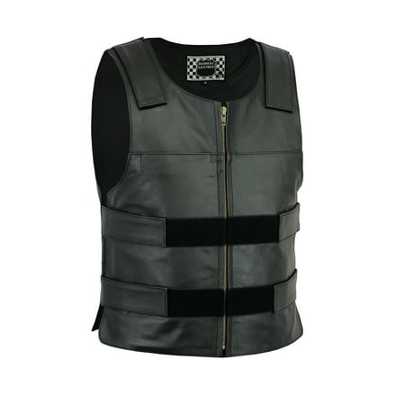 Men Bullet Proof style Leather Motorcycle Vest for bikers Club Tactical Vest - Bullet Proof Vest Halloween