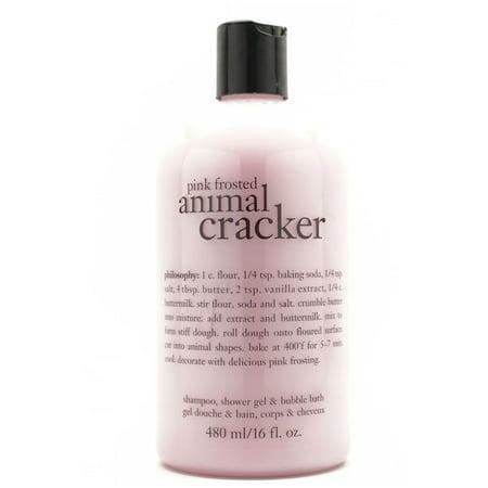 Philosophy Pink Frosted Animal Cracker Shampoo, Bath & Shower Gel, 16 Oz Bath Shower Shampoo Gel