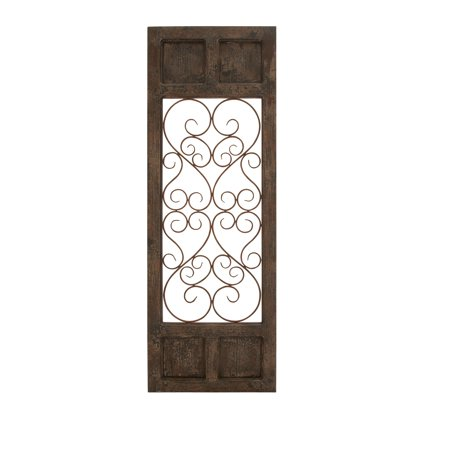 Wood Metal Wall Panel In Dark Brown Color With Classic Style ()