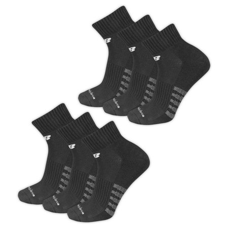 445a69a961b99 New Balance - New Balance Men's Core Cotton Quarter Socks - 6 Pack -  Walmart.com