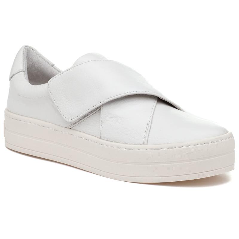 J/Slides - Harper White Leather Modern