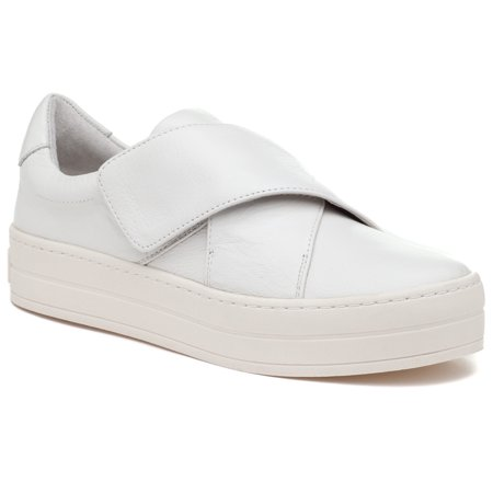 Harper White Leather Modern White Platform Fashion Sneaker Loafer