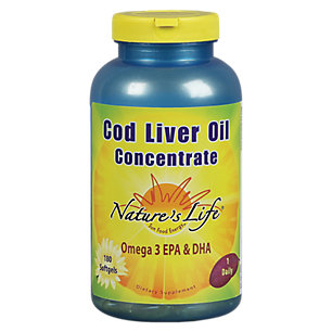 Cod Liver Oil Concentrate 1140mg Nature's Life 180 Softgel