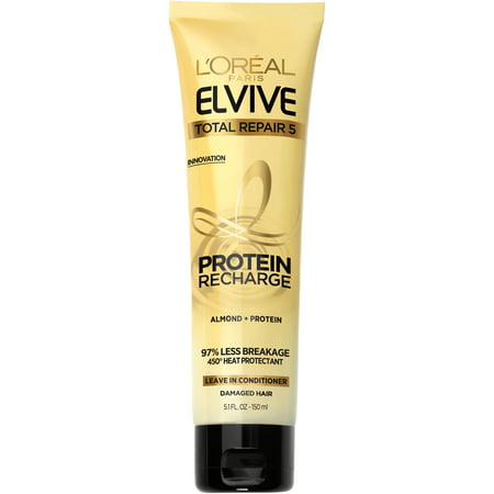 Wheat Protein Conditioner (L'Oreal Paris Elvive Total Repair 5 Protein Recharge Leave In Conditioner 5.1 fl. oz. Tube )