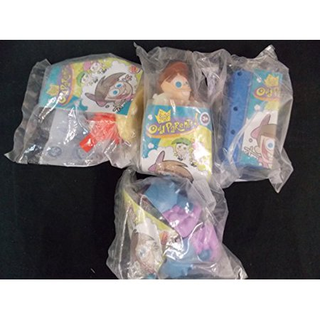 Burger King The Fairly OddParents by Nichelodeon, Set of 4, (Fairly Oddparents Jimmy Timmy Power Hour 3)