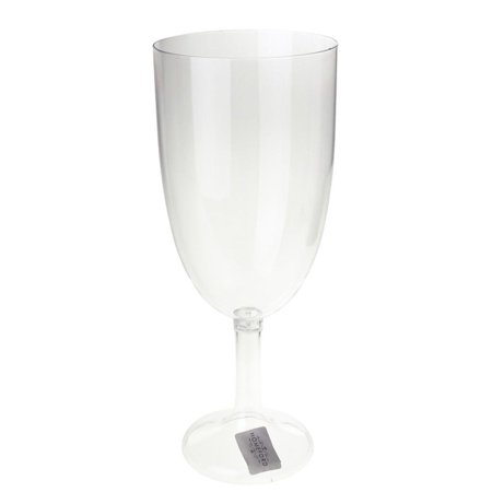Large Clear Plastic Vase Goblet Cup, 12-1/2-Inch ()