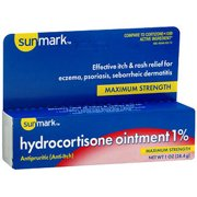 Sunmark Maximum Strength Hydrocortisone Ointment 1% with Aloe, 1 Oz.