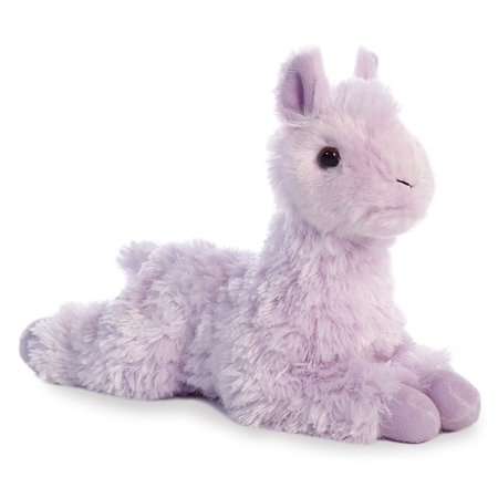 Llama Mini Flopsie Purple 8 inch - Stuffed Animal by Aurora Plush (31756) - Llama Stuffed Animal