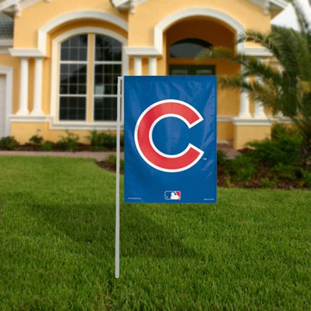 WinCraft Chicago Cubs 11'' x 15'' C Logo Garden Flag - No Size (Cubs Flag)