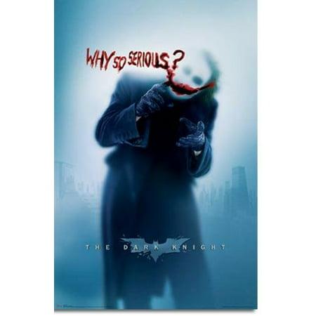 Batman Why So Serious Heath Ledger Poster New 24x36](Batman Poster)