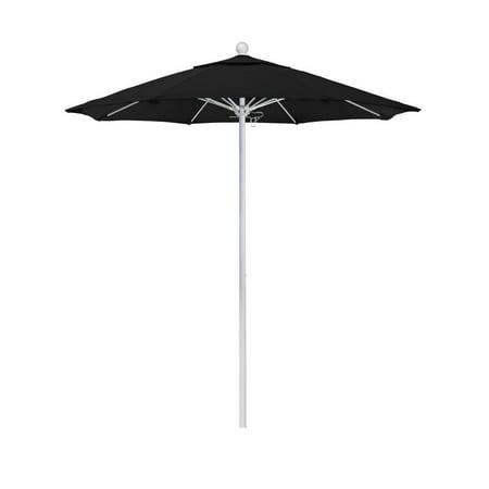 California Umbrella Venture Series Patio Market Umbrella in Olefin with Aluminum Pole Fiberglass (Navy Blue Patio Umbrella With White Pole)
