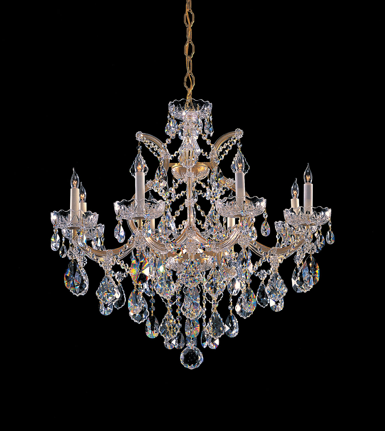 Crystorama 4409-GD-CL-SAQ Eight Light Chandeliers by Crystorama