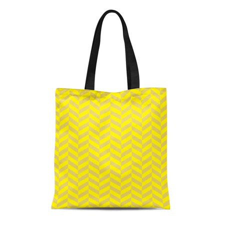 KDAGR Canvas Tote Bag Classic Herringbone Twill Zigzag Weave Pattern Broken Vintage Chevron Reusable Handbag Shoulder Grocery Shopping -