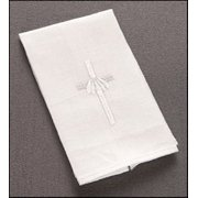 Keepsake Baptismal Napkin Linen with Embroidered Cross 6 x 9' H Pack of 4
