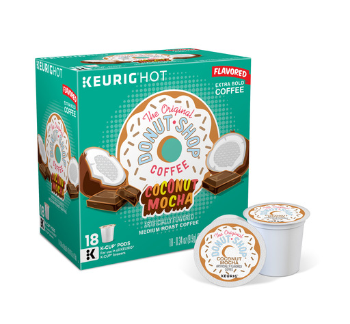 The Original Donut Shop Coconut Mocha Keurig Single-Serve K-Cup Pods, Medium Roast