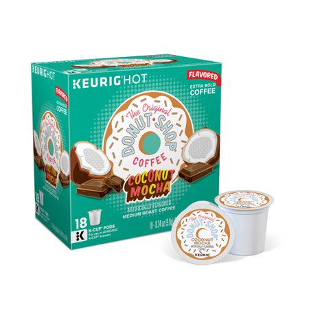 The Original Donut Shop Coconut Mocha Keurig Single-Serve K-Cup Pods, Medium Roast Coffee, 18 Count