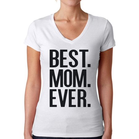 Awkward Styles Women's Best Mom Ever V-neck T-shirt Mother's Day