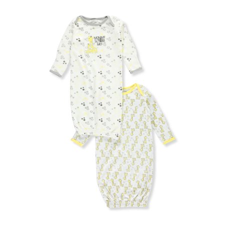 Quiltex Unisex Baby 2-Pack Gowns