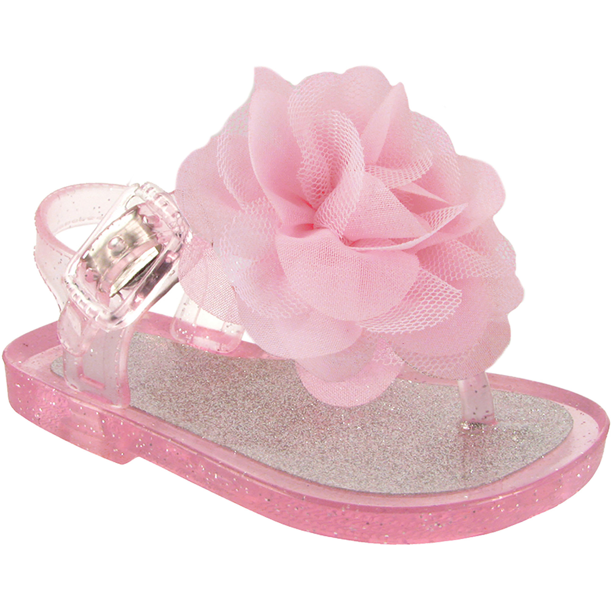 Wee Kids Baby-Girls Sandals Jelly Shoes (Baby Shoes) Girls Summer Sandals Lt. Pink Silver Sz 8
