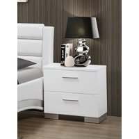 Coaster 203502 Home Furnishings Night Stand, Glossy White