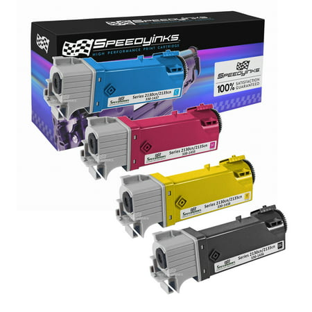 2130cn 2135cn Yellow Toner (SpeedyInks - Compatible Dell 2130 Set of 4 HY Laser Toners T106C Black T107C Cyan, T108C Yellow T109C Magenta for use in Dell Color Laser 2130cn, Dell Color Laser 2135cn )