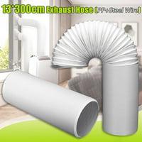 "3 Meter 5"" Diameter White Flexible Exhaust Hose Tube Portable Air Conditioners Vent Hose"