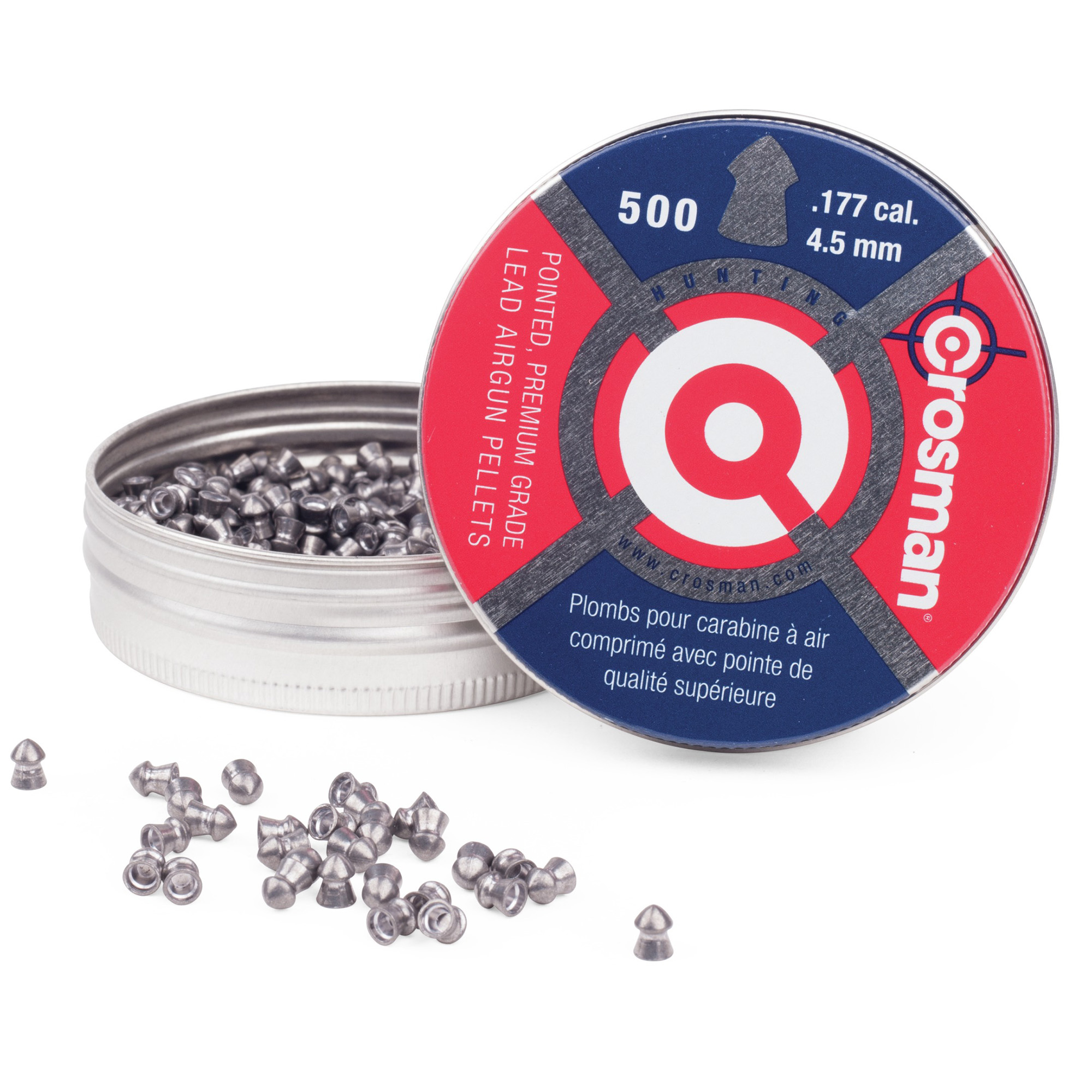 Crosman .177 Caliber Pointed Pellets 500 Ct, 7-P577